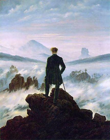 Caspar David Friedrich - Le voyageur contemplant une mer de nuages